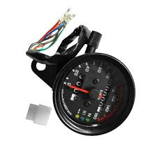 motorcycle double odometer retro led