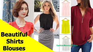 50 Beautiful Shirt and Blouse Designs For <b>Women</b> S14 - YouTube