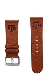 Texas A&M Aggies <b>22mm Leather Watch Band</b> - AffinityBands