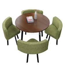 90CM 4 Person Coffee Table With chair Combination Negotiation ...