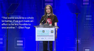 "This world would be a whole lot better, if...."" - Ellen Page ... via Relatably.com"