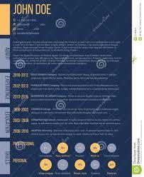 simplistic cv resume template in dark blue stock vector image simplistic cv resume template in dark blue