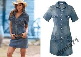 Znalezione obrazy dla zapytania sukienka jeans