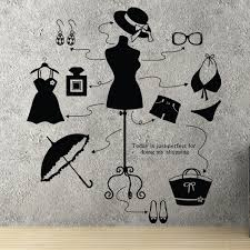 Small Picture Aliexpresscom Buy Lady Clothes Shop Vinyl Decal Beauty Shop