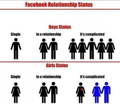 Facebook relationship status The difference... via Relatably.com
