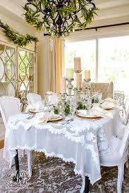 Christmas Dining Room Elegant White And Gold Christmas Dining Room And Table Scape