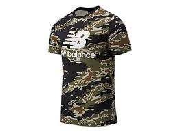 Men's <b>Essentials Stacked Logo</b> AOP T-Shirt - New Balance