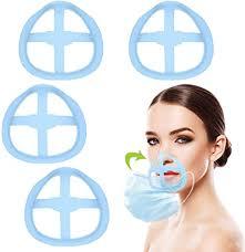 Bracket for <b>Mask Inner</b> Support Frame,4 Pack Blue <b>3D Mask Face</b> ...