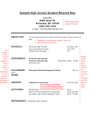 cover letter template for  resume for highschool students    resume template