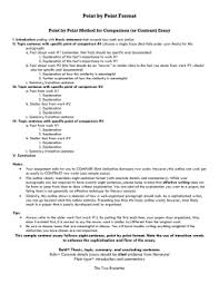 compare and contrast essay point by point method chapter  comparison contrast essay point by point method for comparison or contrast essay