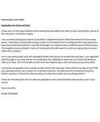 Cover letter template for internal job application happytom co
