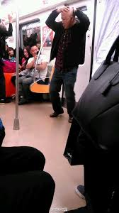 Image result for crazy guy subway