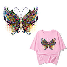 <b>Iron on Butterfly</b> Patches for Clothing DIY T shirt Jeans Heat Transfer ...