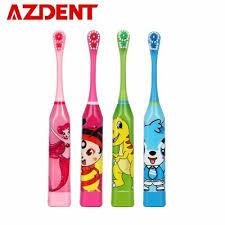 AZDENT® <b>Children Electric Toothbrush</b> Cartoon Pattern Double ...
