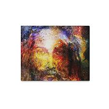 InterestPrint <b>Jesus Christ</b> Painting in Cosmic Galaxy Space <b>Canvas</b> ...