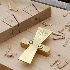 Solid <b>Brass Dovetail Marker</b> - Garrett Wade