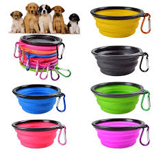 <b>1PC Pet Dog Soft</b> Bowl Folding <b>Silicone</b> Travel Bowls For <b>Dog</b> ...