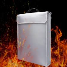 <b>Portable Fireproof Document Bag</b> Holder Pouch Home Office Safe ...
