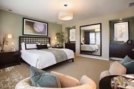 zen bedroom design ideas wall mirror dark wood furniture beige bedroom design ideas dark