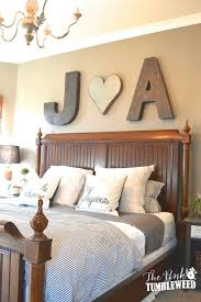 Bold Initials Above The Bed DecorationCouple DecorationBedroom