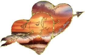 Resultado de imagen para corazones con alas en movimiento gif