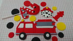 Firefighter Cupcake Decorations Similiar Fire Truck Edible Cake Decoration Keywords