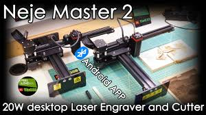 <b>NEJE Master 2</b> 20W desktop Laser Engraver and Cutter - YouTube