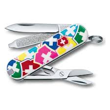 <b>Нож</b>-<b>брелок</b> VICTORINOX Classic <b>VX Colors</b>, 58 мм, 7 функций ...