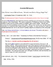 Apa Annotated Bibliography Sample        Cover Letter Templates Free Essays and Papers