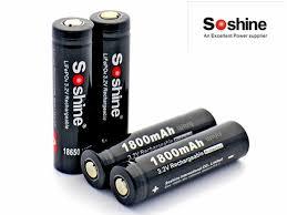 <b>2pcs</b> Soshine 3.2V Rechargeable 18650 LifePO4 Battery Cell ...