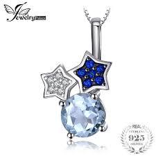 2019 <b>Jewelrypalace</b> Refreshing <b>1ct Genuine</b> Sky <b>Blue</b> Topazs ...