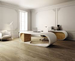 modern office desk design to beautify home outstanding rectangular which has white color and drawers on attractive modern office desk design