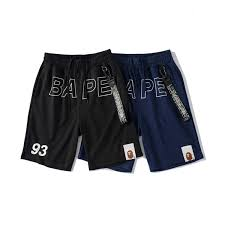 <b>Bape</b> Mens Short Pants Fashion Designer Mens <b>Shark Printing</b>