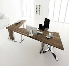 contemporary desk furniture home office design white lacquer computer black laminate table and walnut oak mocca comfortable smaal black contemporary home office
