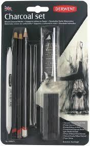 <b>Набор угольных</b> карандашей Derwent Charcoal, 10 предметов