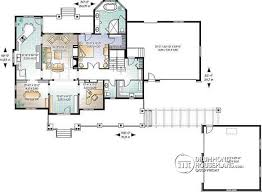 House plan W detail from DrummondHousePlans com    st level bedroom ranch house   car garage  amp  front to back converd porch