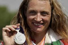 Alison Williamson poses during the medals presentation ceremony of the archery women's individual recurve event during the Commonwealth Games at the Yamuna ... - Alison-Jane-Willi.thumb