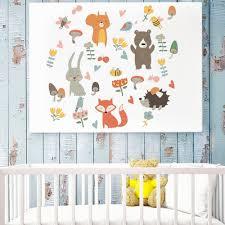 Ins Fox <b>Rabbit Children Room</b> Nursery Self adhesive Decals ...