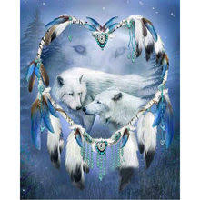 <b>Diamond</b> Embroidery <b>White Wolf</b> reviews – Online shopping and ...