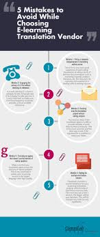 things to avoid while choosing an e learning translation vendor 5 things to avoid while choosing an e learning translation vendor an infographic