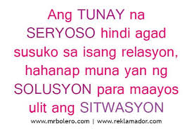 Best Tagalog Love Quotes - Relasyon Problem Quotes | Sad Tagalog ... via Relatably.com