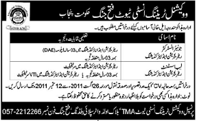 jobs in vocational training institute fateh jang gif jobs in vocational training institute fateh jang