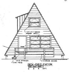 A Frame House Plan   DeckA Frame House Plans Deck side Picture