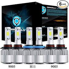 6PCS <b>9005 9006 H11 Combo</b> LED Headlight Kit Bulbs 6000K White ...
