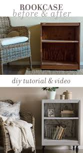 ideas bedside tables pinterest night: how to turn an old thrift store bookcase into a custom night stand using trim middot nightstand repurposedbookcase nightstandfurniture