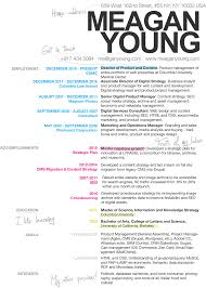 meagan young resume curriculum vitae