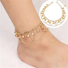 <b>Women Fashion Wave</b> Tassel Bell Anklet,Alloy Dance Indian ...