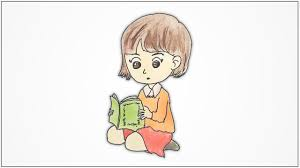 How to draw <b>a girl</b> sitting and <b>reading</b> a <b>book</b> step by step - YouTube