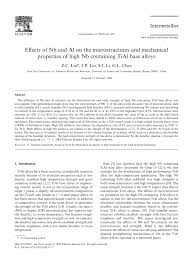(PDF) Effects of Nb and Al on the microstructures and <b>mechanical</b> ...