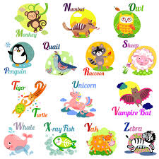 Cute <b>animal</b> alphabet for ABC book. Vector illustration of <b>cartoon</b> ...
